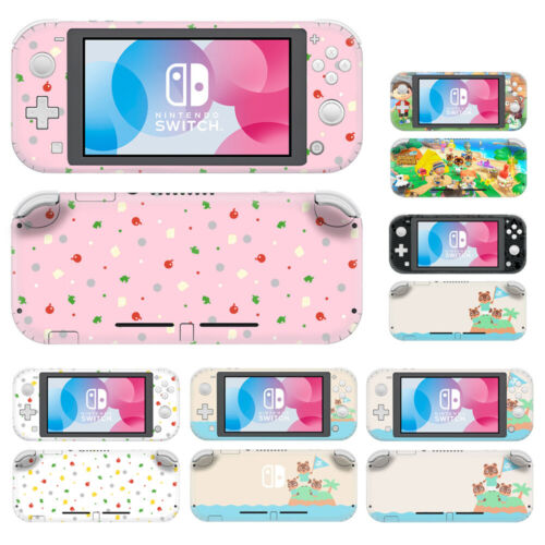 For Nintendo Switch Lite Removable Animal Crossing Skin Decal Sticker Wrap Cover