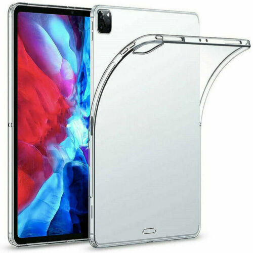 For iPad Pro 11 inch 2020-2018 Case Soft Ultra Slim TPU Transparent Clear Cover