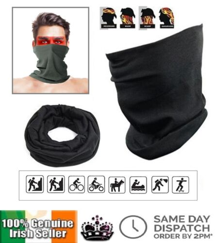 Thermal 3 in 1 Multi Use Snood Face Mask Lightweight Neck Warmer Scarf Ring Wrap