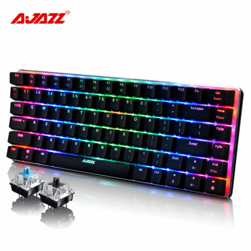 AU Ajazz AK33 Wired Mechanical Keyboard RGB LED Backlight USB Gaming Keyboard