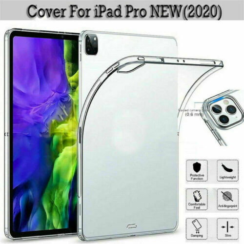 For iPad Pro 11 inch 2020 Release 2nd Case Soft Slim TPU Transparent Clear Cover