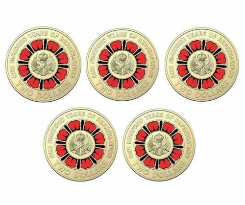 2019 100 Years of Repatriation $2 Coins Sachet x 5