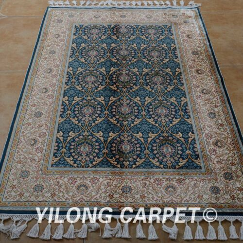 Yilong 3.5'x5.2' Classic Handmade Silk Rugs Hand Knotted Discount Carpets 1765