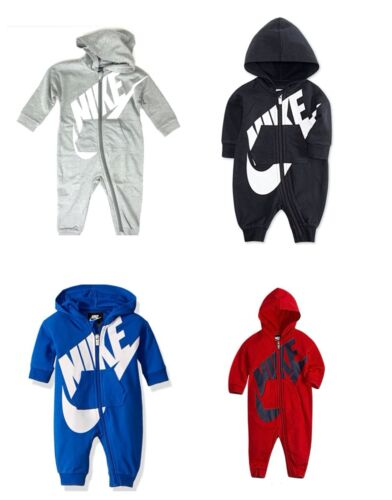Nike Baby Boys Girls Hooded One Piece Bodysuit Romper Coverall