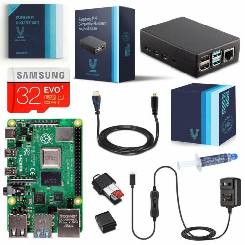 Vilros Raspberry Pi 4 Complete Kit with Heavy-Duty Self-Cooling Aluminum Case