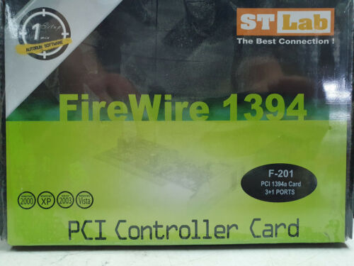 ST-Labs 1394 PCI firewire Card Model F-201 up to 400Mbps   -- New Old Stock --