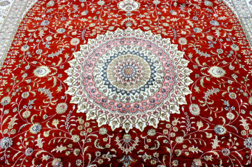 9X12 INCREDIBLE MASTERPIECE NEW 300+KPSI HAND KNOTTED SILK TABRIZZ ORIENTAL RUG