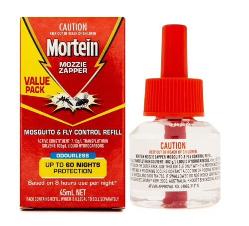 Mortein Mozzie Zapper Mosquito & Fly Control Refill Odourless 45mL