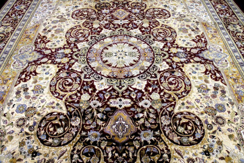 10X14 ONE IN A MILLION MINT 500KPSI HAND KNOTTED WOOL PAK TABRIZZ ORIENTAL RUG