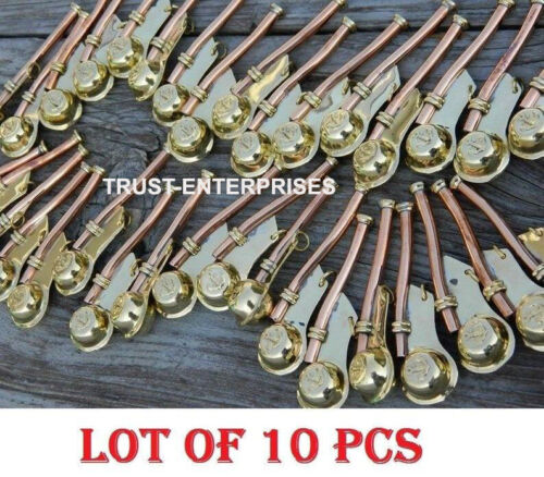 LOT OF10 PCS Nautical Antique Brass Boatswain's Pipe Bosun Whistle Key Chains