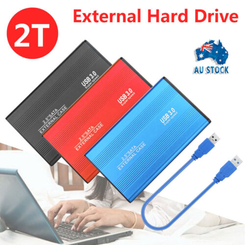 2TB External Hard Drive Disks HDD 2.5'' Fits For PC Laptop Portable USB 3.0
