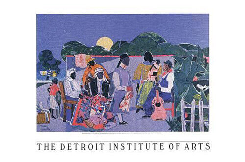 Quilting Time by Romare Bearden Art Print African American Museum Poster 24x36