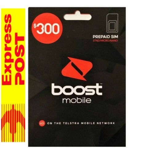 3X $300  Boost Mobile   Prepaid SIM Starter Kit 240 GB DATA 12 MONTHS EXPIRY