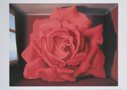 Le Tombeau Des Lutteurs by Rene Magritte Art Print Poster Red Rose 19.5x27.5