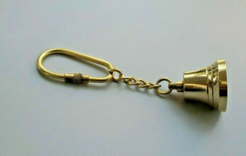 Collectible Brass Working Bell Key Chain Marine Nautical Gift