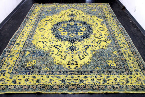 9X12 1920's SPECTACULAR HAND KNOTTED 90+YEARS ANTIQUE WOOL TABRIZZ ORIENTAL RUG