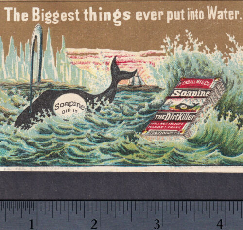 19th Century Providence Whaling 1800's Arctic Whale Ship Soapine Soap Trade Card