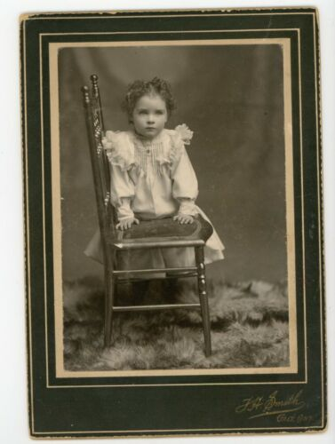 Girl Identified Ruby Oliver  antique Cabinet Card photo Galt Ontario Smith