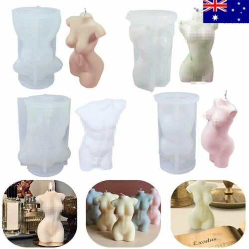 Silicone Candle DIY Female/Male Craft Mould 3D Body Plaster Human Model Mold WH