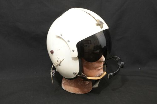 Cold War Us Army Combat Aph-5a Helicopter Helmet, Headset Microphone Chinstrap