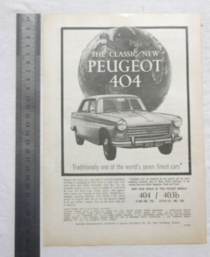 New Peugeot 404 Original Advertisement removed from a magazine