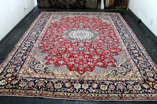 10X14 1960's MASTERPIECE MINT 200+KPSI HAND KNOTTED ISFAHANN ORIENTAL WOOL RUG