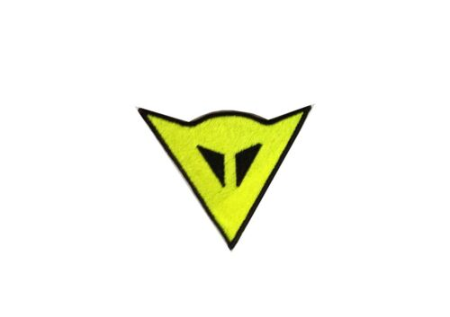 2 PATCH TOPPE DAINESE GIALLO FLUO  RICAMATE TERMOADESIVE  embroidered logo