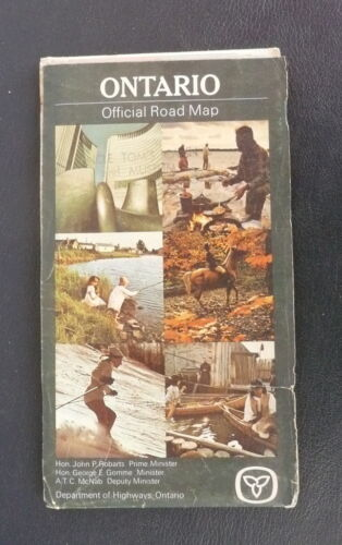 1969 Ontario road highway map official province