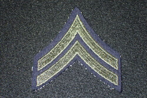 ARMY AIR FORCE PRIVATE RANK ON DK BLUE WOOL FELT PAIR MINT EARLY WW2 WWII U.S