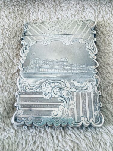 1851 Great Exhibition Silver Card Case, Crystal Palace