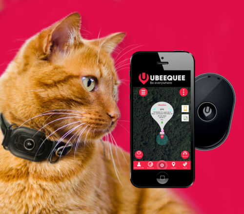 GPS Tracker for Cats |  Lightest UK tracker | Free and shareable app |  UBEE CAT