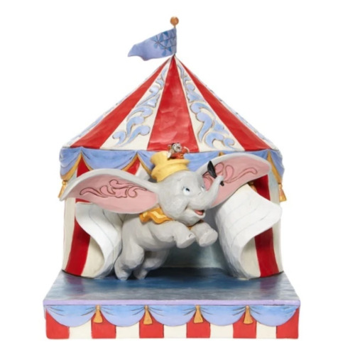 """Disney Traditions - 24cm/9.5"""" Dumbo Flying out of Tent Scene"""