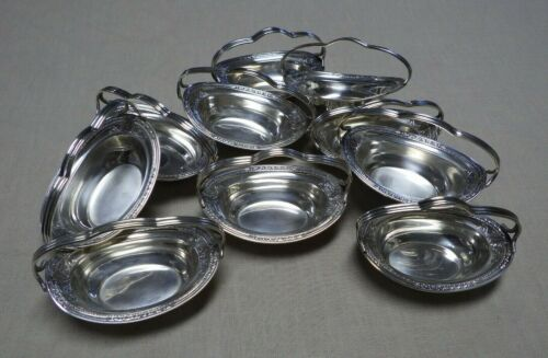 10 International RICHELIEU 1935 Unusual Sterling Silver Nut Dishes With Handles