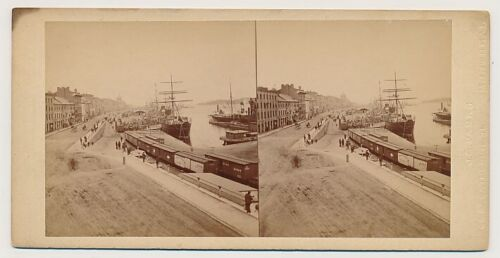 CANADA SV - Quebec - Montreal - Shipping Scene - JG Parks 1870s