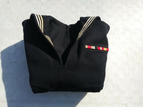 Vintage États-unis Marine Pull Chemise Medical Po First Class W / Service Barres