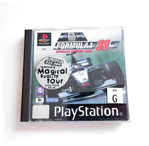 Formula 1 98 - PlayStation 1 Game (PS1, PSX) Complete w/ Manual Great Condition