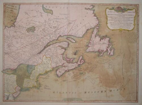 CANADA - A NEW MAP OF THE BRITISH COLONIES.... BY LAURIE & WHITTLE 1794.
