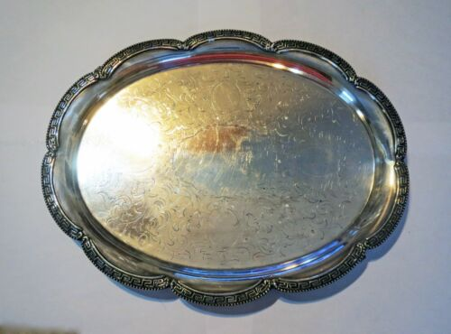 1400 GRAMS Antique 1800s TIFFANY & COMPANY - LARGE SILVER MEAT SERVING TRAY