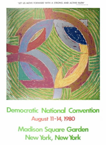 Peterson IV by Frank Stella Art Print 1980 Democratic Convention Poster 37x27