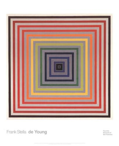 Letter on the Blind II by Frank Stella Art Print 2014 Modernism Poster 32x26