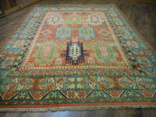 SUPER HAND MADE TURKISH KNOTTS NAEIN DESIGN KARACHE SERAPI HERIZ VISS 8x10 RUG