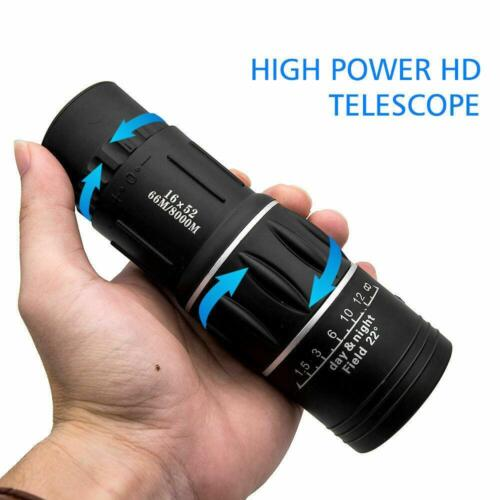 HD Optical Monocular Hunting Camping Hiking Telescope Day & Night Vision Durable