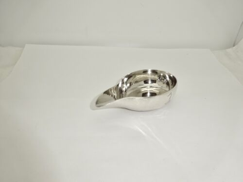 ANTIQUE 18TH CENT LONDON STERLING SILVER PAP BOAT,DUCK/CROWN CRESTED