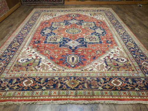 SUPER HAND MADE VEGDIES TURKISH KNOTTS  KARACHE SERAPI HERIZ VISS 8x10 RUG