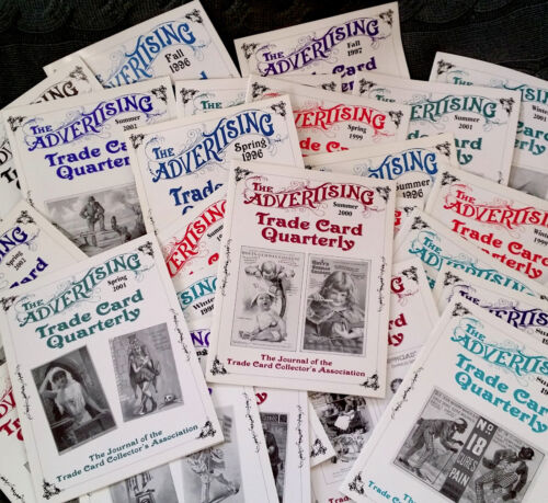 Advertising Trade Card Quarterly Journal set of 32x Back Issue Magazine w Prices