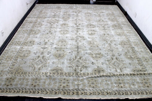 12X15 EXQUISITE MINT NEW PALACE HAND KNOTTED WOOL OUSHAK TURKISH ORIENTAL RUG