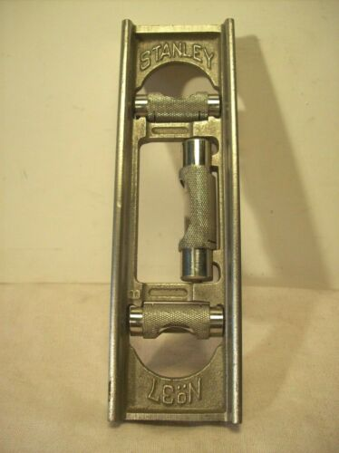 """1896~STANLEY~No. 37~ANTIQUE MACHINISTS 6"""" NICKEL PLATED CAST IRON 3 BUBBLE LEVEL"""