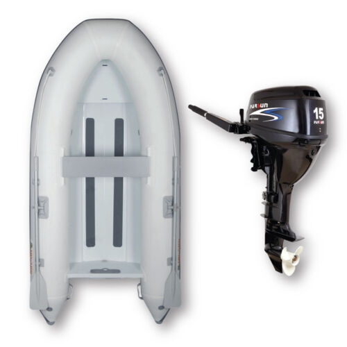 3.1m ISLAND INFLATABLE Alloy RIB BOAT + 15HP PARSUN OUTBOARD ✱ PACKAGE DEAL âœ