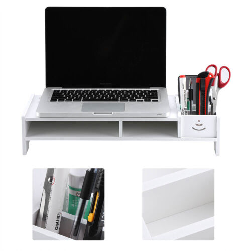 Computer Monitor Riser Laptop PC Stand Home Office Desktop Table Storage Home