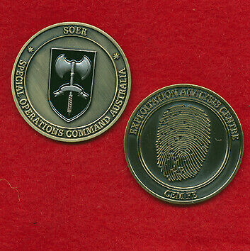Special Operations Command Australia - SOER Challenge Coin MilitariaModern, Current - 36066